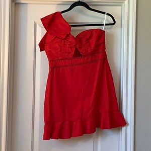 Tularosa Red Cocktail Dress from Revolve